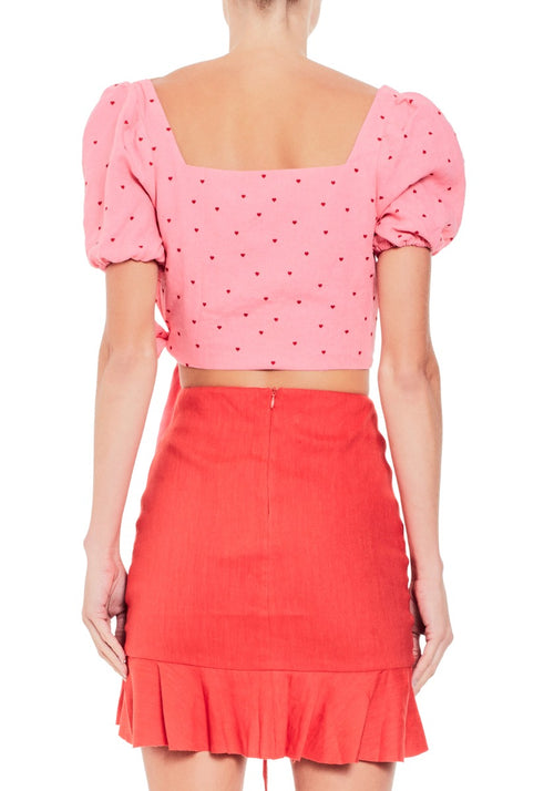 Miss Trouble Tie Top