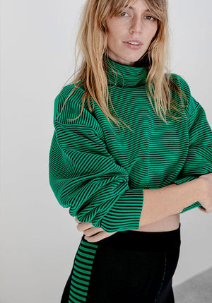 Cropped Rib Sweater Tropic Green