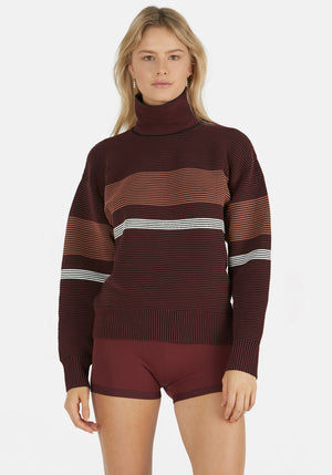 Retro Rib Sweater Burgundy