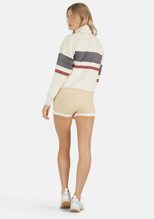 Retro Rib Sweater Cream