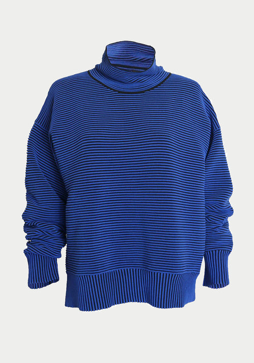Rib Sweater Azure Blue