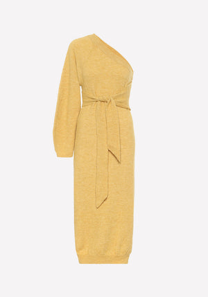 Cedro One Shoulder Dress Yellow