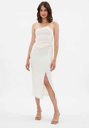 Moja Skirt With Slit White