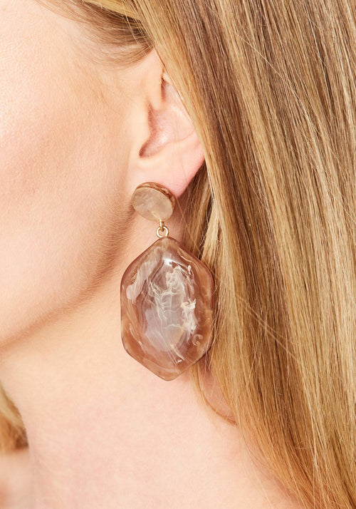Natalia Earrings Marble