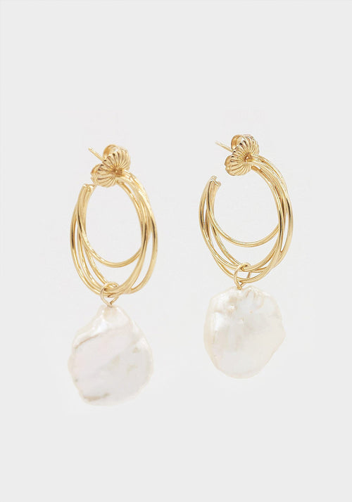Lindsey Earrings Keshi Pearls Gold Plated