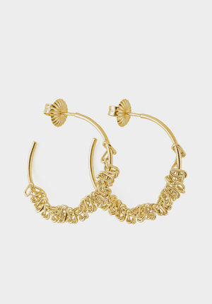 Rachel Hoops Gold Plated