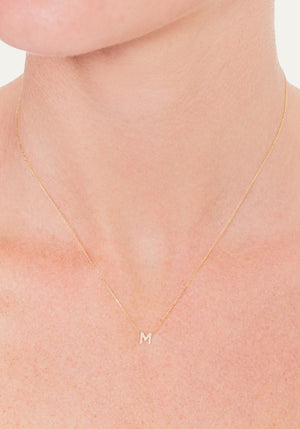 Petite Letter O Necklace
