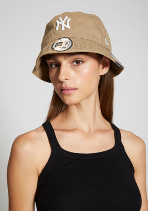 NY Bucket Hat Washed Khaki