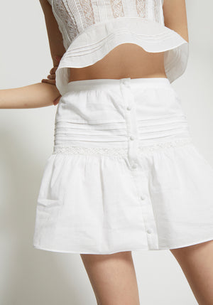 Maci Mini Skirt White