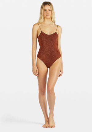 Lumiere Maillot One Piece Brown