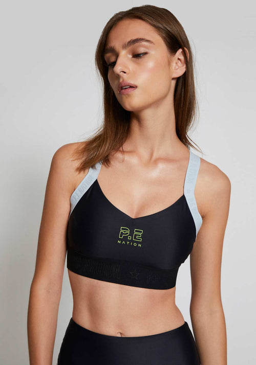 Bar Down Sports Bra Black - P.E Nation - Tuchuzy