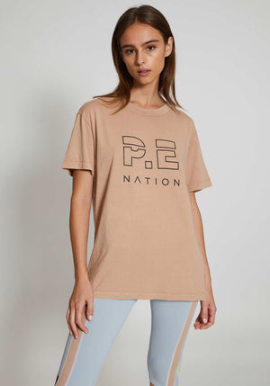Heads Up Tee Nude
