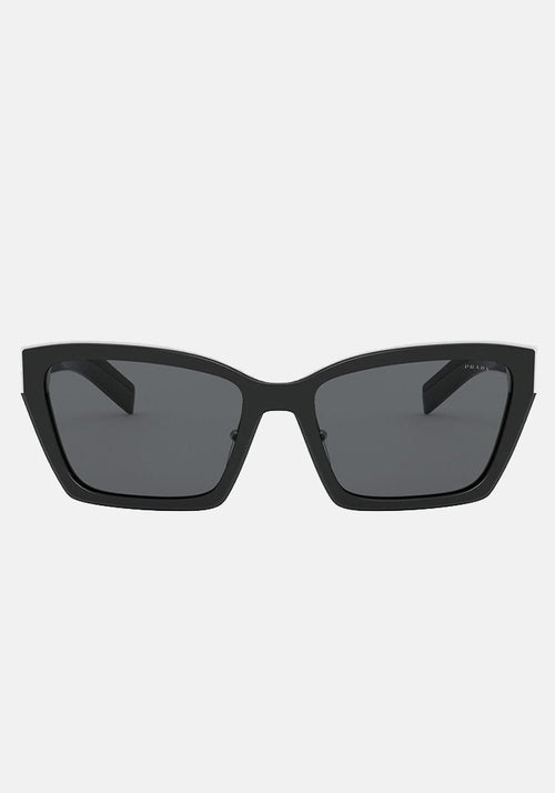 OPR 14XS Square Frame Sunglasses Black With Dark Grey