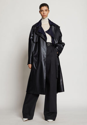 Long Belted Coat Dark Grey