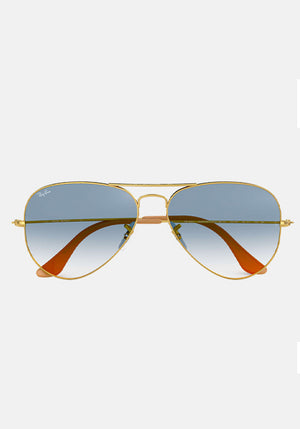 Aviator Classic Sunglasses Gold/Blue
