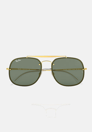 Blaze General Sunglasses Gold/Green