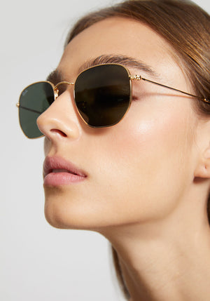 Hexagonal Original Sunglasses Gold