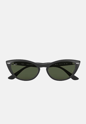 Nina Sunglasses Black/Green