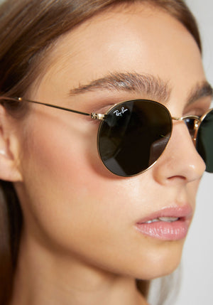 Round Metal Original Sunglasses Gold