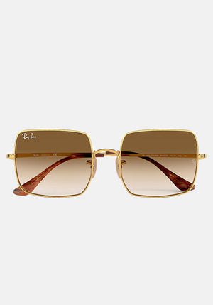 Square Evolve Sunglasses Gold With Gradient Brown