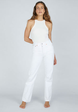 High Rise Loose White