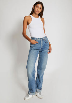 90s Relaxed Long Jean Medium Speckle
