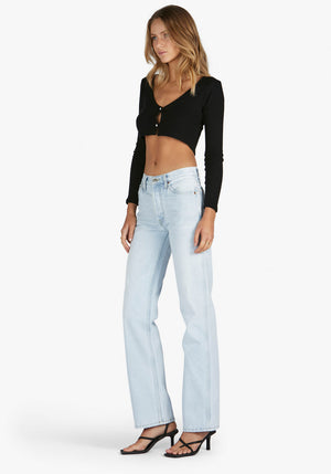 90s High Rise Loose Fit Jean Light Indigo