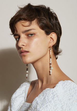 The Mar Earrings Pearl