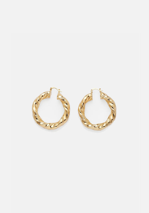 Mini Twine Hoops Gold
