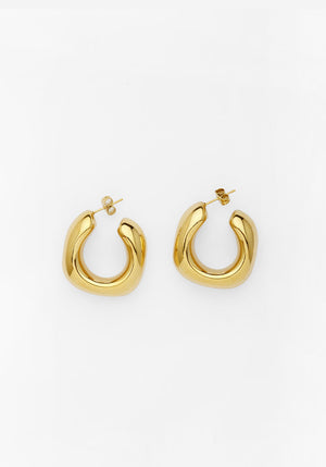 Trending Upwards Earrings Gold