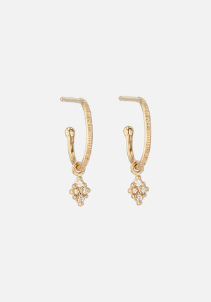 Rhombus Diamond Hoops Gold