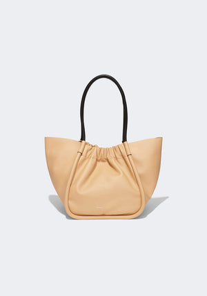 Large Ruched Tote Sand