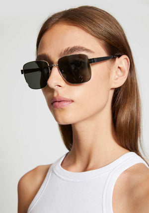 Square Metal Frame Sunglasses Silver