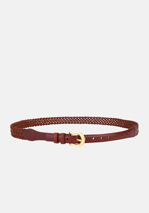 The Daria Woven Belt Vintage Tan