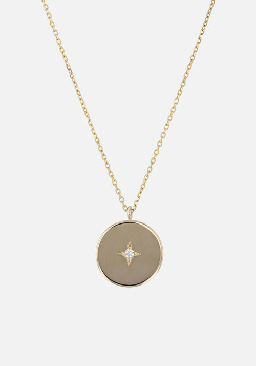 Insignia Diamond Circle Necklace Gold