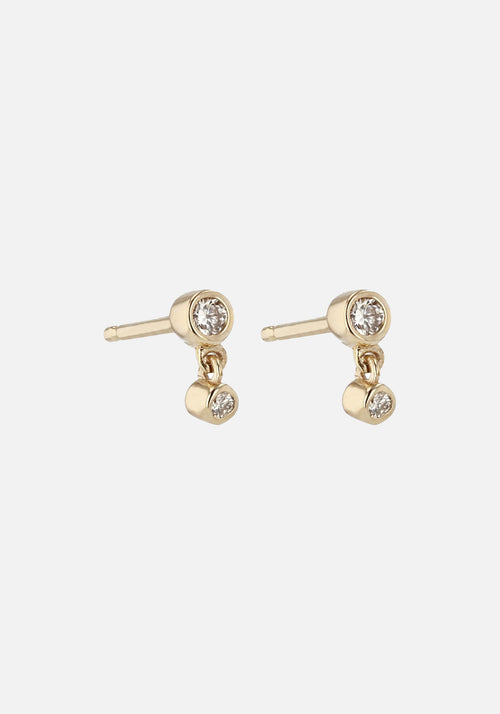 Paradox Diamond Earrings Gold