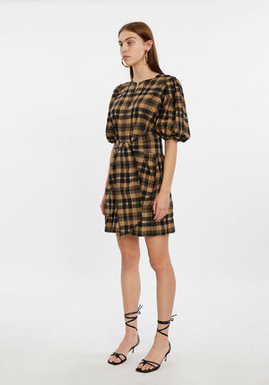 Seersucker Check Tie Dress