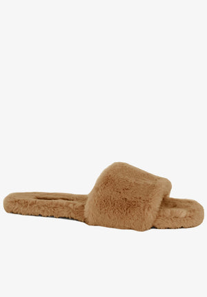 Idella Slides Teddy Fur