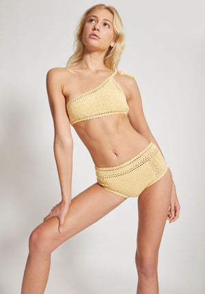 Essential High Waisted Bikini Bottoms Butter