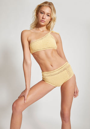 Essential High Waisted Bikini Bottoms Butter - She Made Me - Tuchuzy