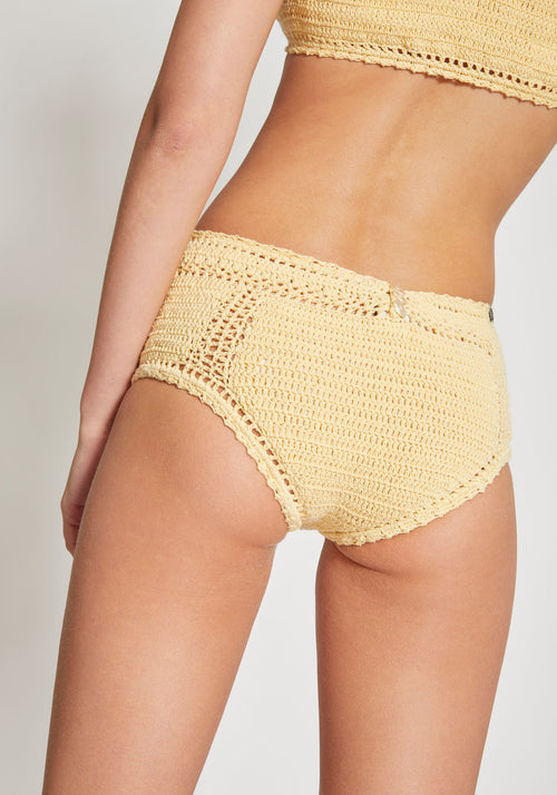 Essential High Waisted Bikini Bottoms Butter - Tuchuzy