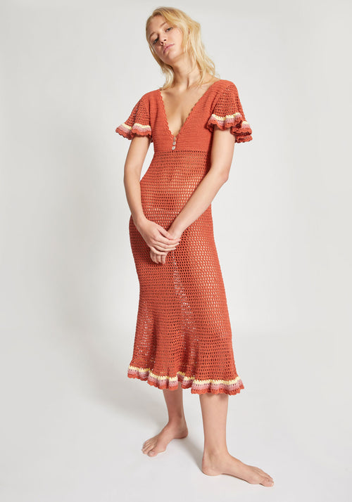 Neha Gown Terracotta - She Made Me - Tuchuzy