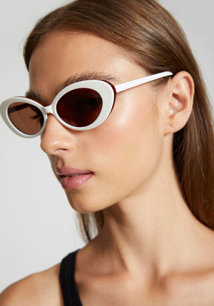 Sylvie Sunglasses White Tort