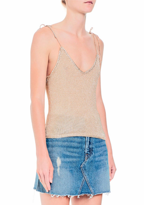 Metallic Knit Top