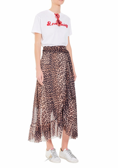 Tilden Wrap Mesh Skirt