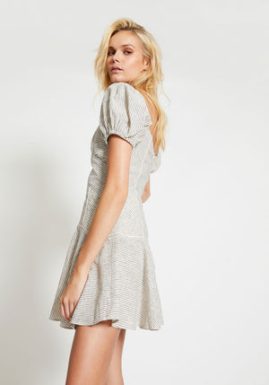 Rockpool Dress Natural Stripe