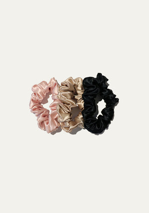 Silk Scrunchies 3 Pack