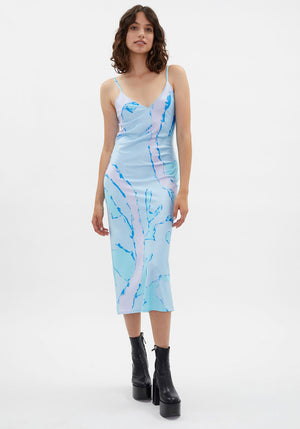 Esmond Dress Blue Summer Abstract Print