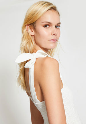 Emile Ruched Top Ivory