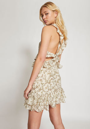 Annalie Ruffle Mini Dress